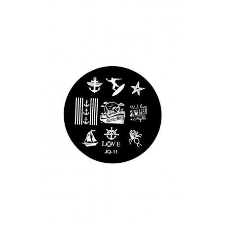 Płytka do stempli symbole 10 #JQ-11