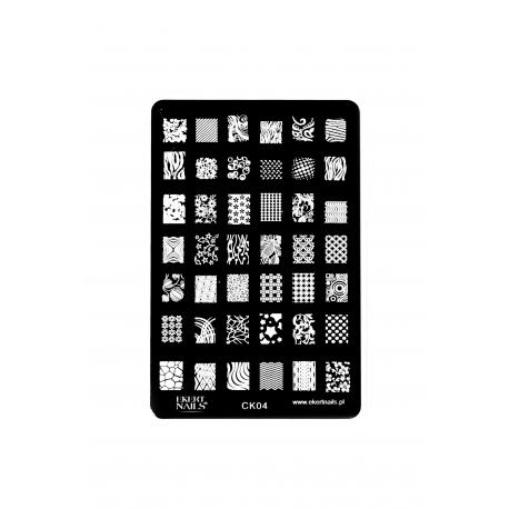 Płytka do stempli symbole 5 #CK04