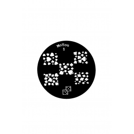 Płytka do stempli symbole 8 #129