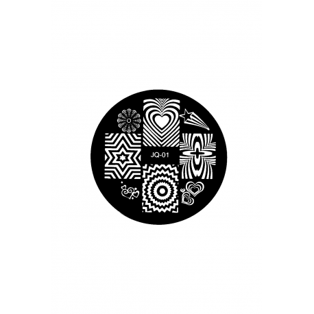 Płytka do stempli symbole 9 #JQ-01