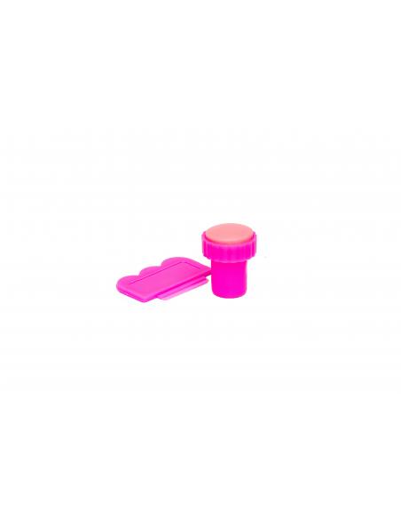 Stempel i scraper różowy