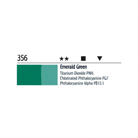 Farba akrylowa 20ml 356 emerald green