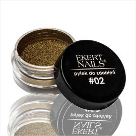 Pyłek do zdobień złoty #02 Ekert Nails