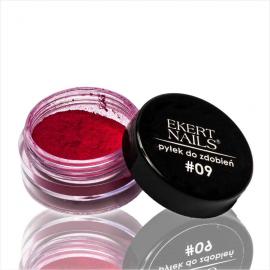 Pyłek do zdobień pigment różowy #09 Ekert Nails