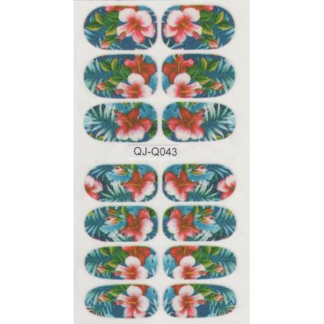 Naklejki na paznokcie kwiaty QJ-Q043
