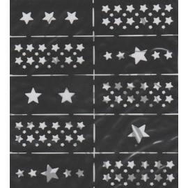 Szablony na paznokcie gwiazdki LS005