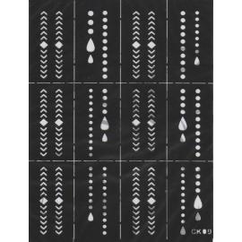 Szablony na paznokcie krople CK09