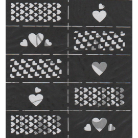 Szablony na paznokcie serca LS010