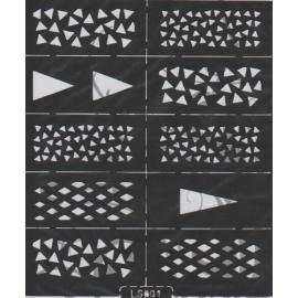Szablony na paznokcie trójkąty LS001
