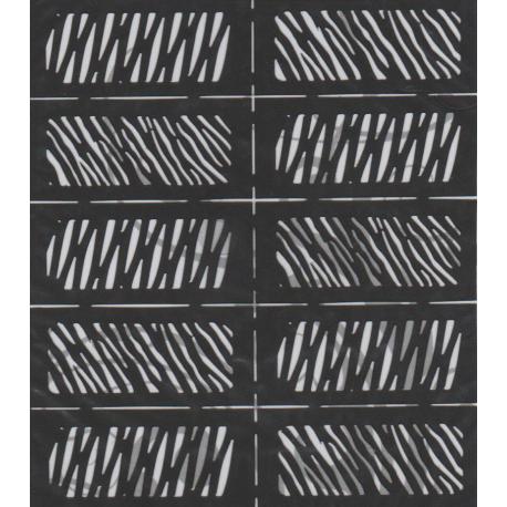 Szablony Na Paznokcie Zebra Ls003