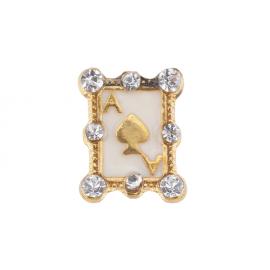 Biżuteria do paznokci złota 08
