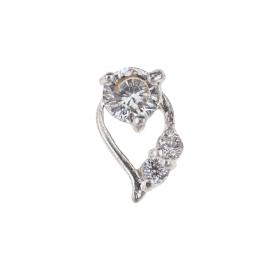 Biżuteria do paznokci srebrna 01
