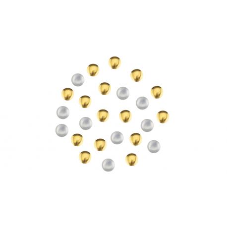 Biżuteria do paznokci złota 03