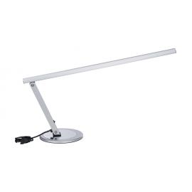 Lampa na biurko srebrna